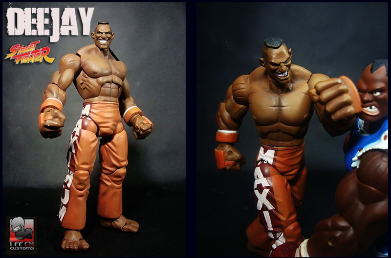 Illustration for article titled Custom Action Figure Of Deejay From Street Fighter