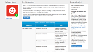 Illustration for article titled PrivacyGrade Shows You Which Apps Collect Your Data (or Don't)