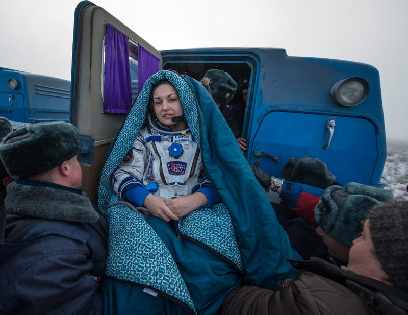 Illustration for article titled This Photo of a Russian Cosmonaut Looks Like a Renaissance Painting