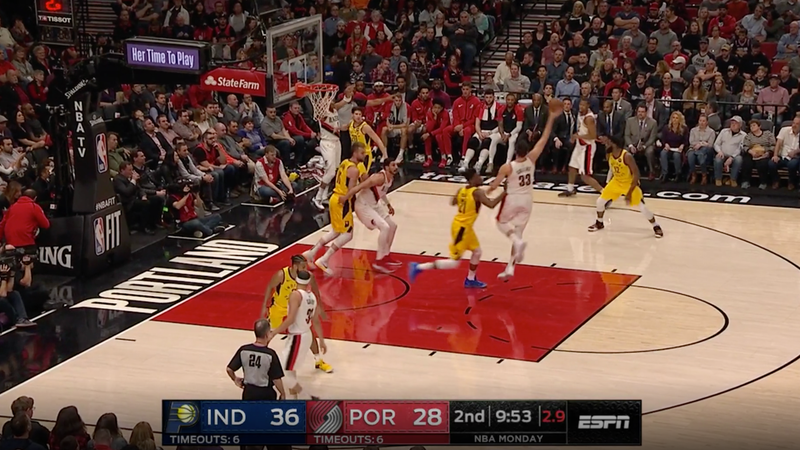Illustration for article titled Here's A Cool Play The Trail Blazers Use To Ambush Unsuspecting Opponents