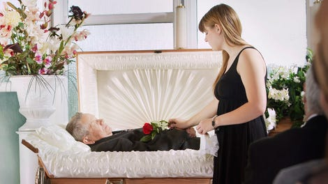 Funeral Attendees Getting Misty Eyed During First Dance
