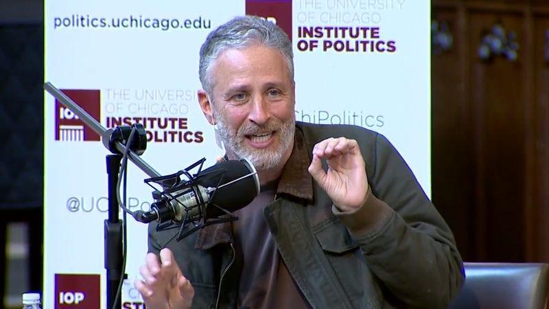 Illustration for article titled Jon Stewart returns to talk politics with David Axelrod