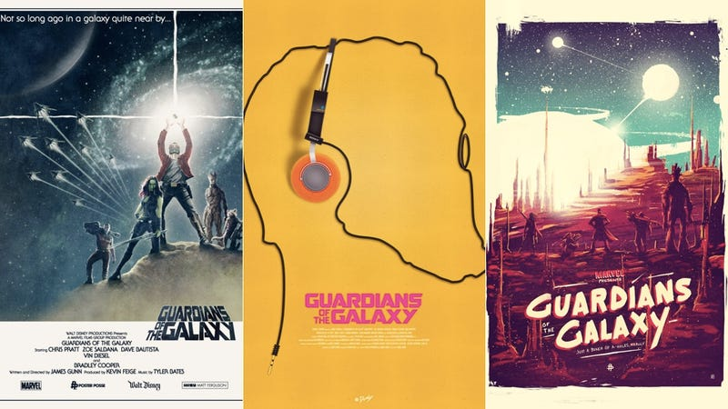 Illustration for article titled Unofficial Guardians Of The Galaxy Posters Capture Our Excitement