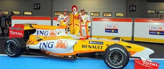 Illustration for article titled ING: Ronald McDonald's F1 Playhouse
