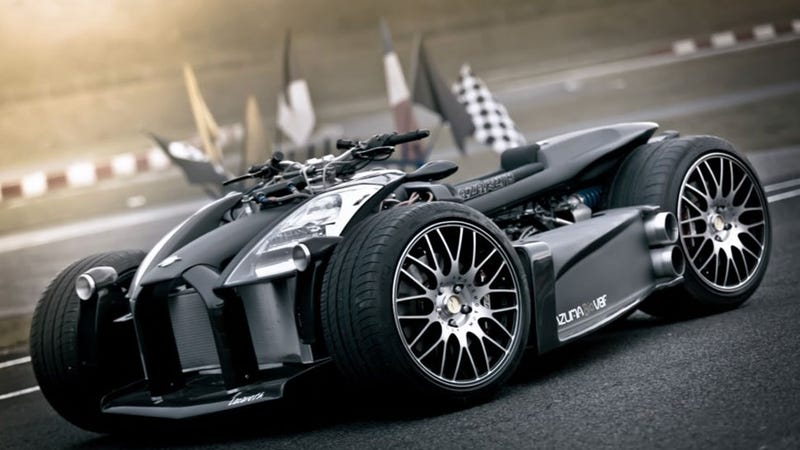 Illustration for article titled This quad with a Ferrari engine is worth of Batman himself