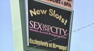 Illustration for article titled Waste Money On Virtual Manolos With Sex & The City Slot Machine