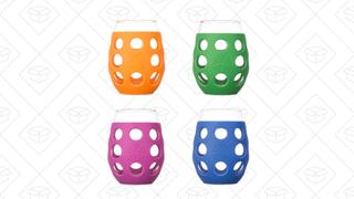 Pack de 4 vasos de vino Lifefactory de 11 onzas | $30 | Amazon