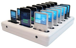 Illustration for article titled Parasync Dock Synchs 20 iPhones, iPod Touch, Classic, Nano Simultaneously