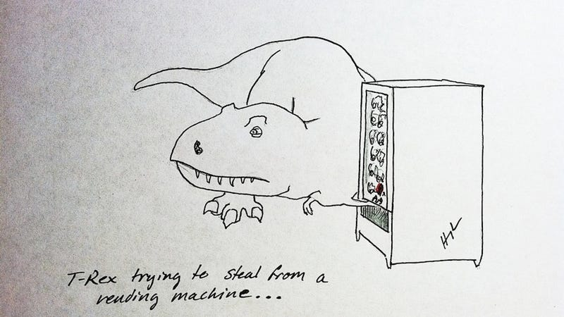 Illustration for article titled Try as he might, there are some things T-Rex just can't do