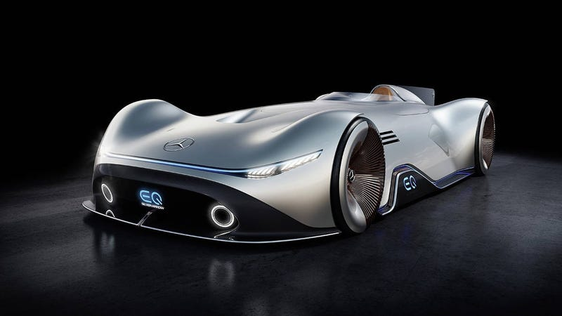 Illustration for article titled The Mercedes-Benz EQ Silver Arrow is a Gorgeous 1937 Throwback Electric Concept