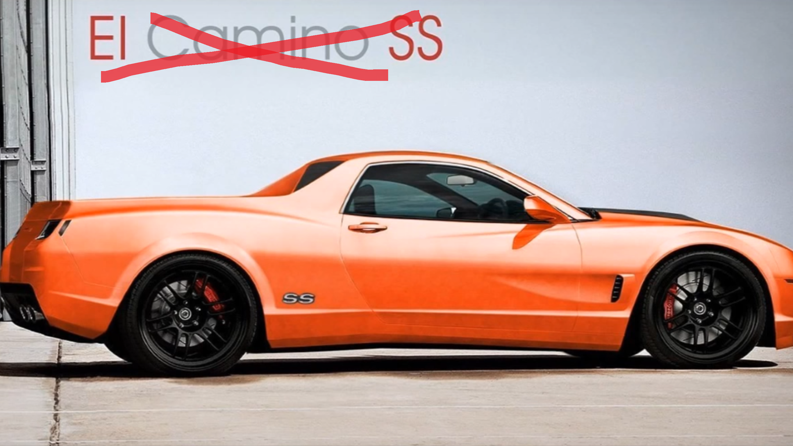 The 'New Chevrolet El Camino' Is A Lie