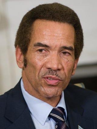 Bachelor President of Botswana Ian Khama