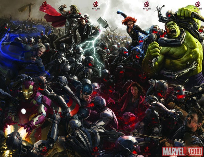 Illustration for article titled Avengers: Age of Ultron is one awesome robot apocalypse clusterfuck