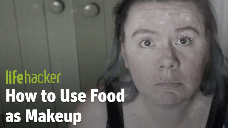 Illustration for article titled I Tried Using Food as Makeup and It Went Poorly
