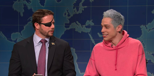SNL's Pete Davidson eats crow for mocking wounded vet Dan Crenshaw, who delivers more in person