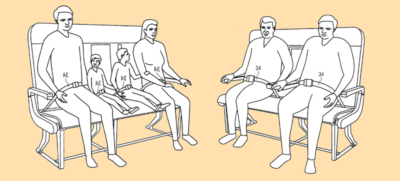 Illustration for article titled The Airbus Solution for Fat Flyers Might Be Bench Seating
