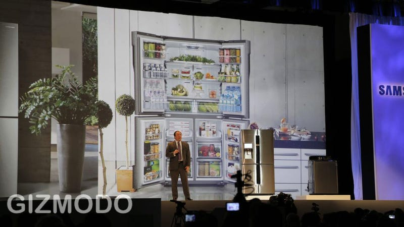 Illustration for article titled No, Samsung, We Don't Need a Goddamn Fridge With a Screen, Baby Monitor and Evernote