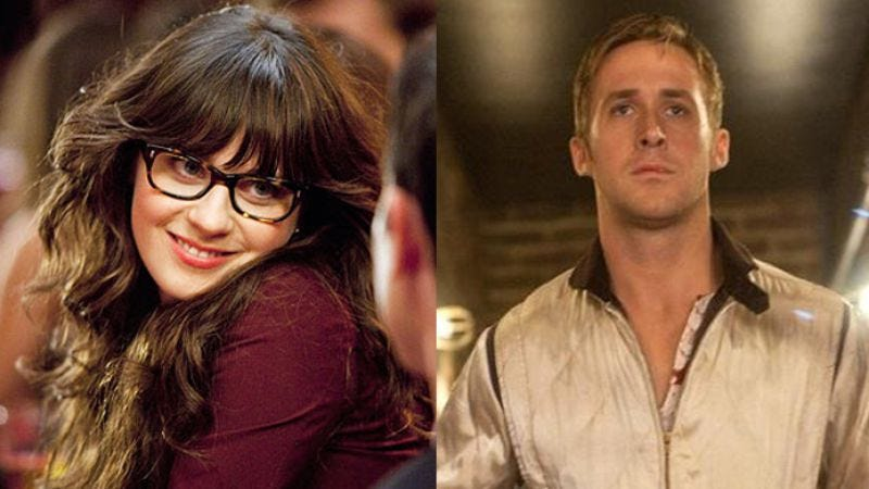 Illustration for article titled The Golden Globes are totally in love with Ryan Gosling and Zooey Deschanel