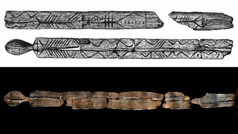 Illustration for article titled Esta escultura desenterrada en Siberia podría ser la primera representación de un demonio hecha por el hombre