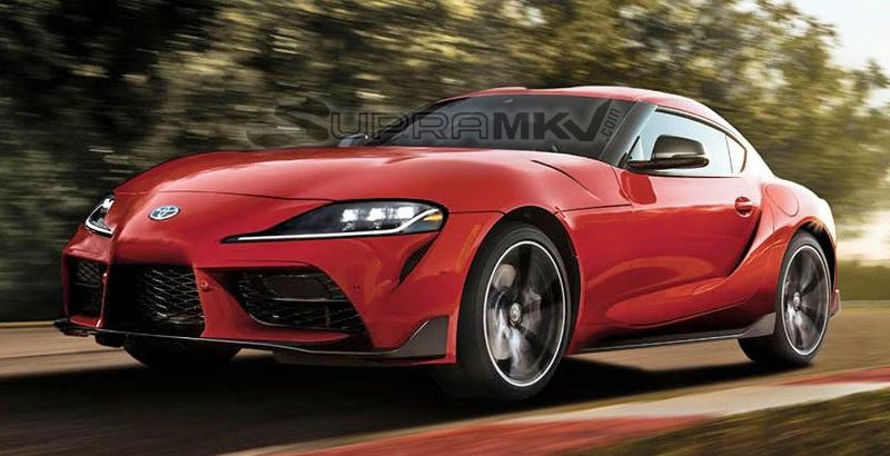 Illustration for article titled The 2020 Toyota Supra Leaked Again, Claimed to Start At $49,990