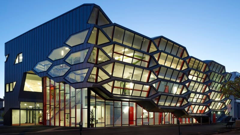 Hexagon Shaped Office Building