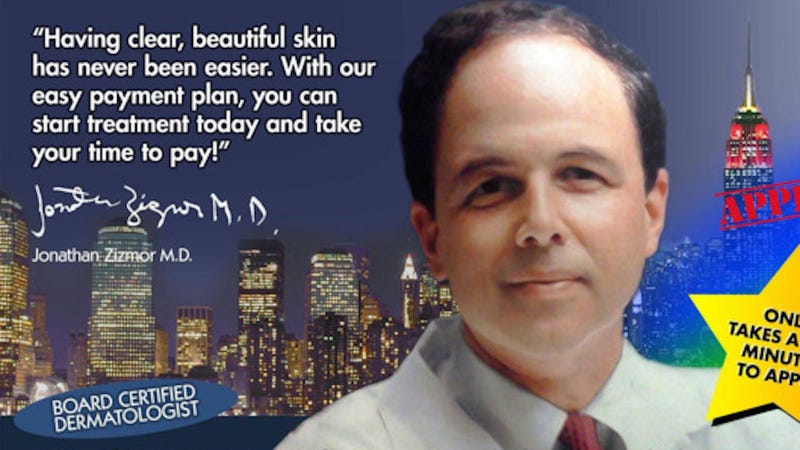 Illustration for article titled A Requiem for Dr. Zizmor, Retired NYC Subway Legend and Hero of Dermatology