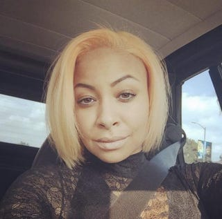 Raven-Symoné showed off her new peach-colored hair over the weekend.Raven-Symoné Instagram
