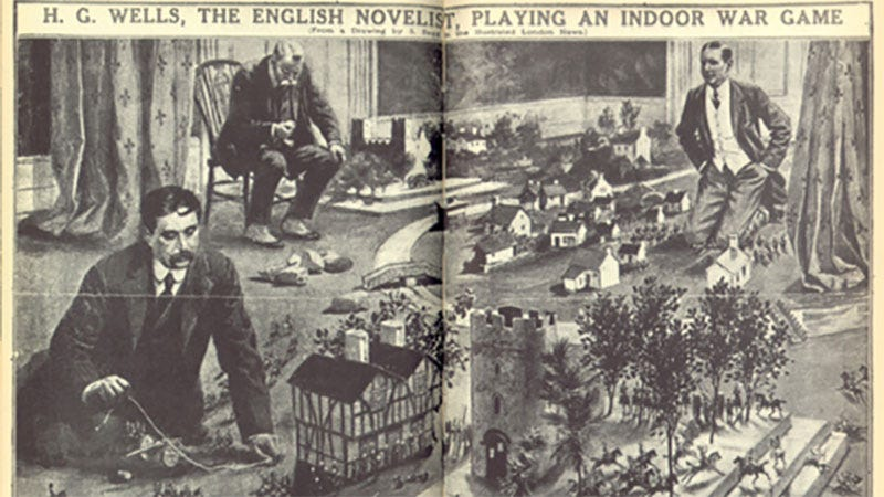 Illustration for article titled HG Wells Practically Invented Modern Tabletop Wargaming