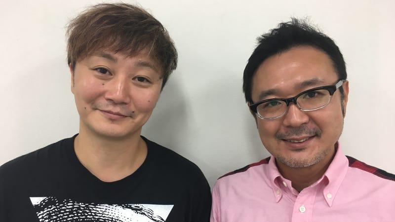 Kazutaka Kodaka (L) and Kotaro Uchikoshi.
