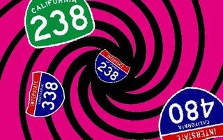 Illustration for article titled Civilization Collapses! Illogical Highway Numbering Alert: I-238
