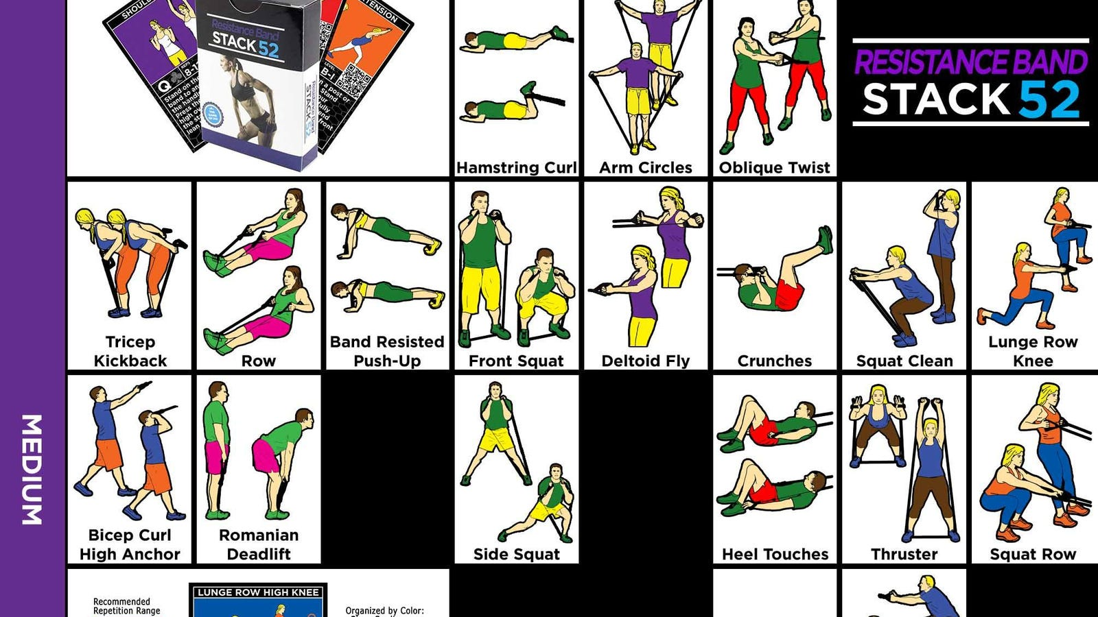 picture regarding Printable Resistance Bands Exercises named This Conditioning Chart Is Comprehensive of Drive-Pleasant, Resistance