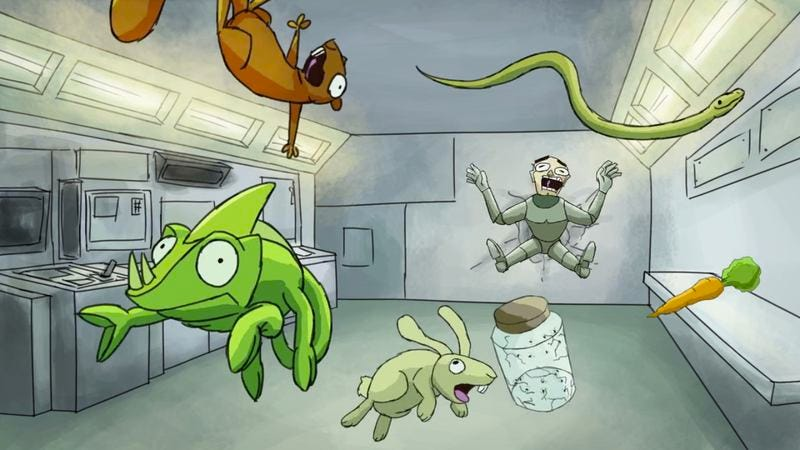 Illustration for article titled Space Critters is a madcap short about animals rebelling in space
