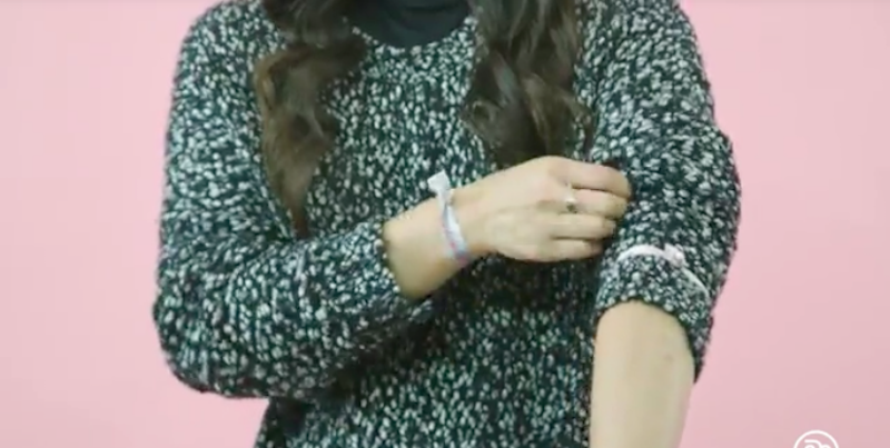 Keep Slouchy Sweater Sleeves Rolled Up With A Hair Tie