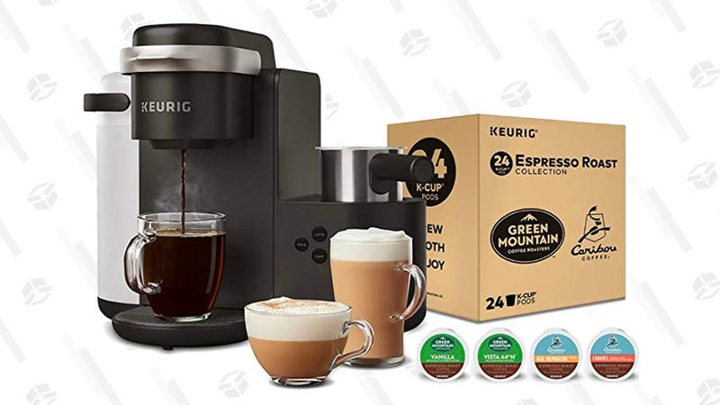 Keurig K-Cafe Single Serve Coffee Maker, Latte and Cappuccino Maker and Espresso Roast | $119 | Amazon | Prime members only