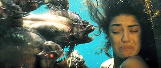 Illustration for article titled Piranha 3D is anti-evolution, anti-sex, pro-police state propaganda!