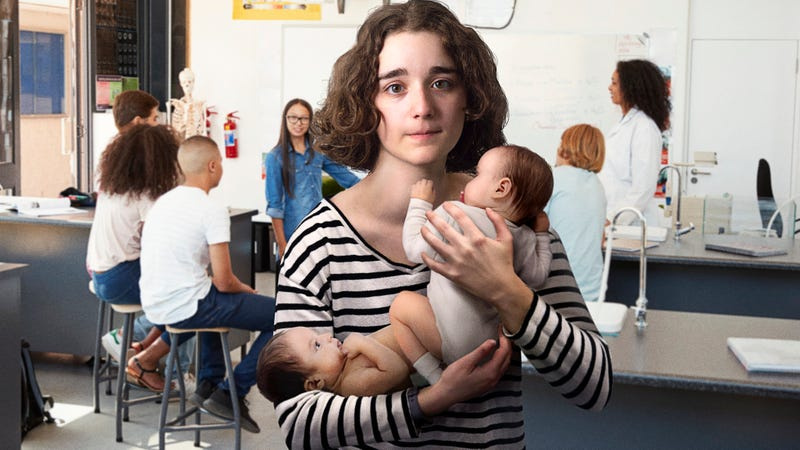 Illustration for article titled So Embarrassing: This Girl Who Left Math Class To Go To The Bathroom For 20 Minutes Was Clearly Giving Birth To Octuplets
