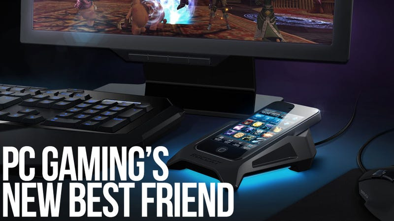 Illustration for article titled Roccat's Power-Grid Transforms Your Mobile Phone into the Ultimate PC Gaming Peripheral