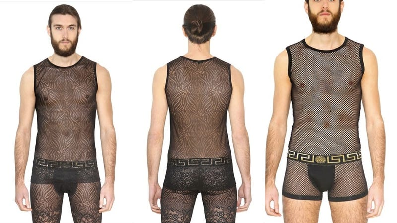 Illustration for article titled Versace Selling Breathable Mesh and Lace Bodysuits Por Homme