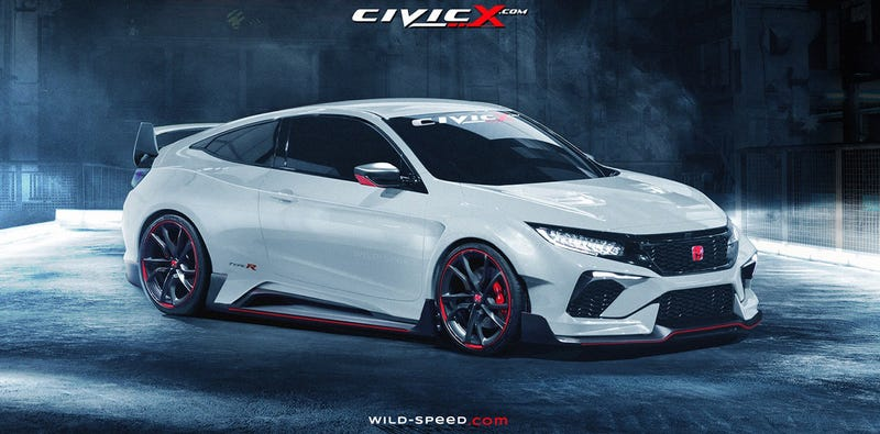 Illustration for article titled Would You Buy America's Civic Type-R Coupe If It Looked Like This?