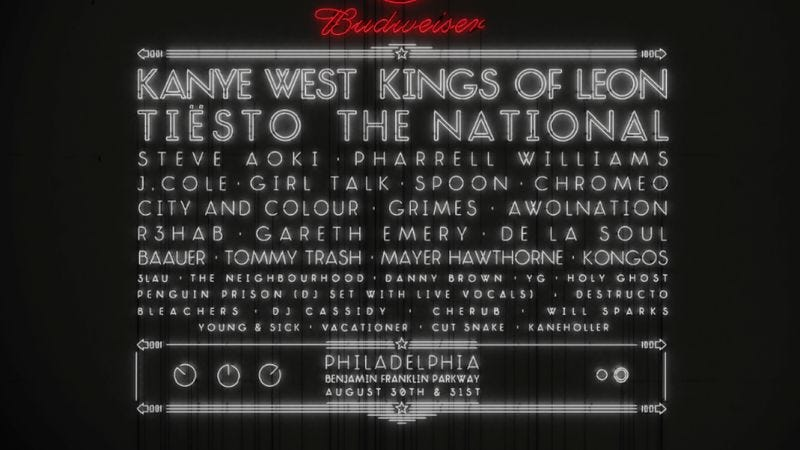 Illustration for article titled Kanye West and Imagine Dragons to headline Jay Z's Made In America fests