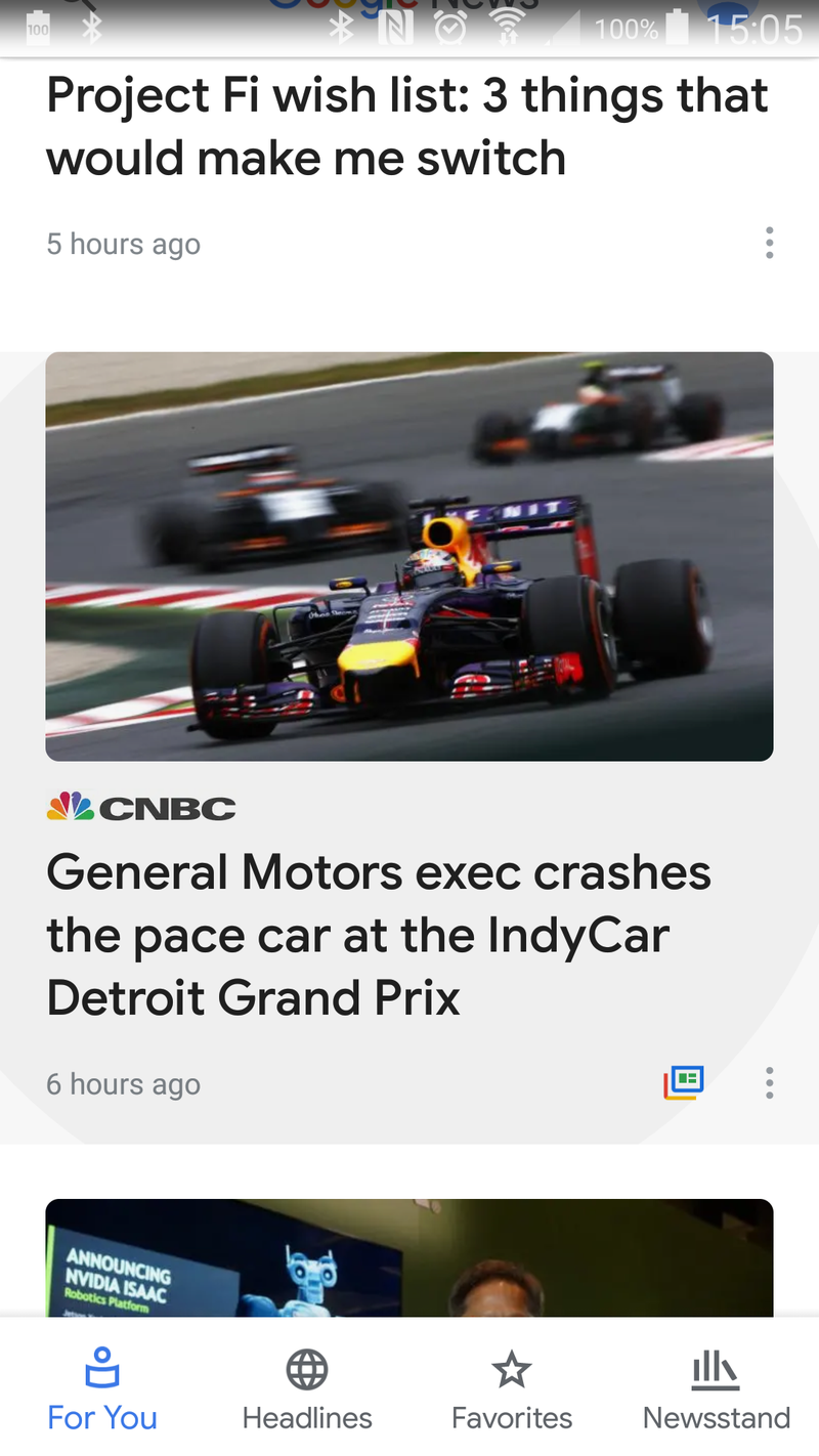 Illustration for article titled CNBC shows again that they don't care about motorsports..