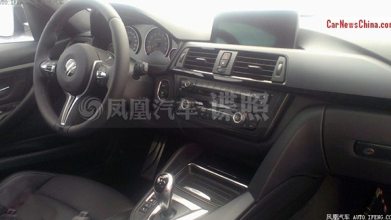 the 2014 bmw m3 interior looks like it should