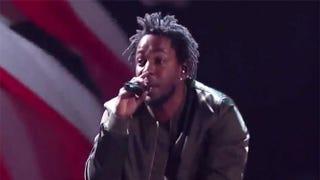 Kendrick Lamar performing at the BET Awards Sunday, June 28, 2015BET