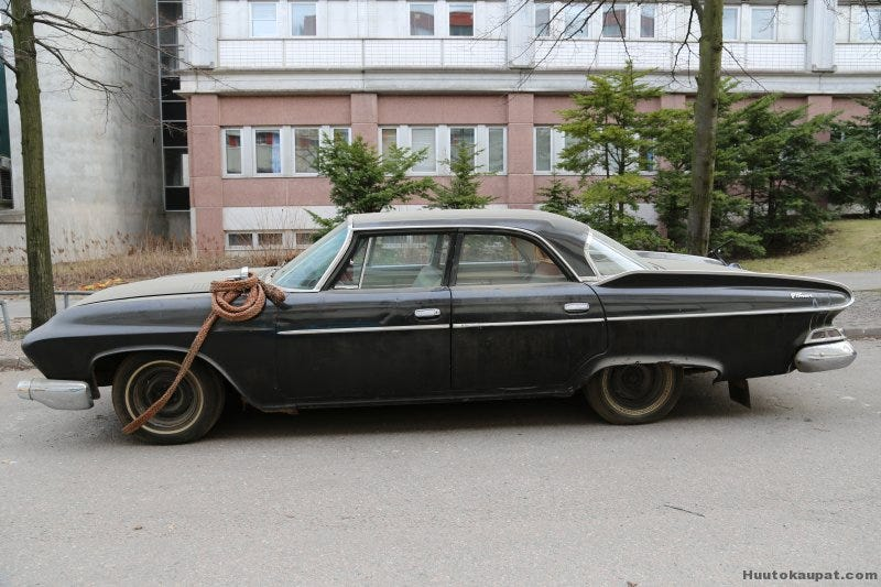 Illustration for article titled Finland's national broadcasting company is auctioning off few old cars