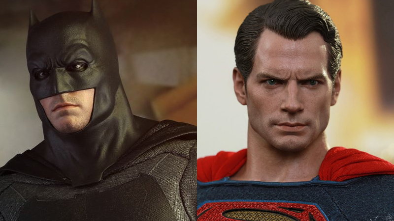 Illustration for article titled Giant Necks and Stern Looks Abound In Hot Toys' Batman v Superman Figures