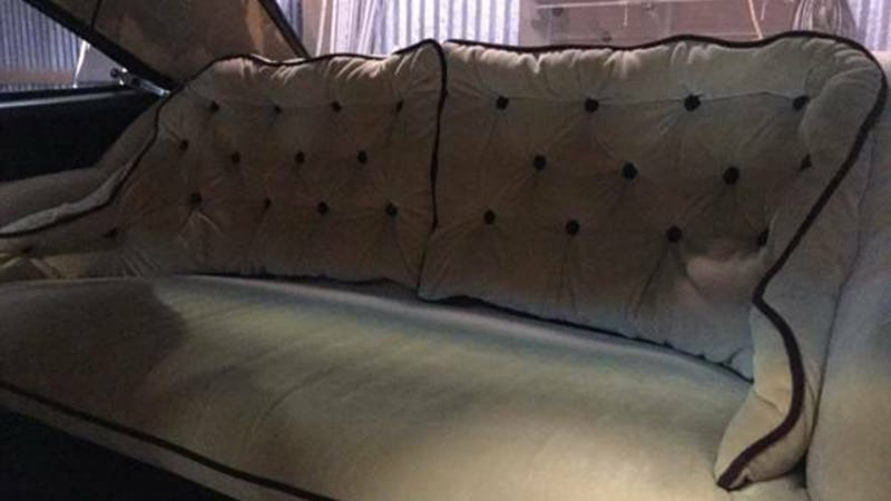 Genius Car Owner Replaces Back Seat With Couch
