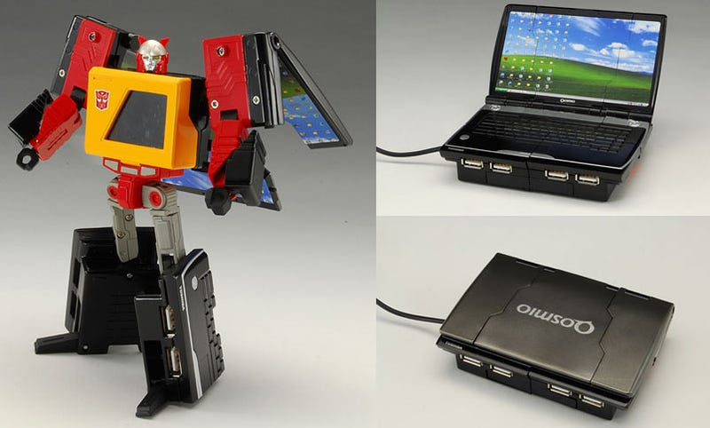 Illustration for article titled Just What I've Always Wanted! A Transformer/USB Hub/Fake Netbook/Cassette Player!