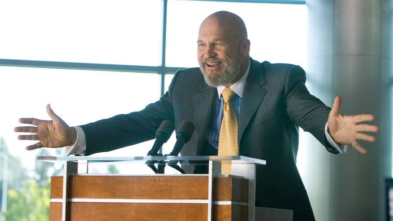 Jeff Bridges as Obadiah Stane in Iron Man