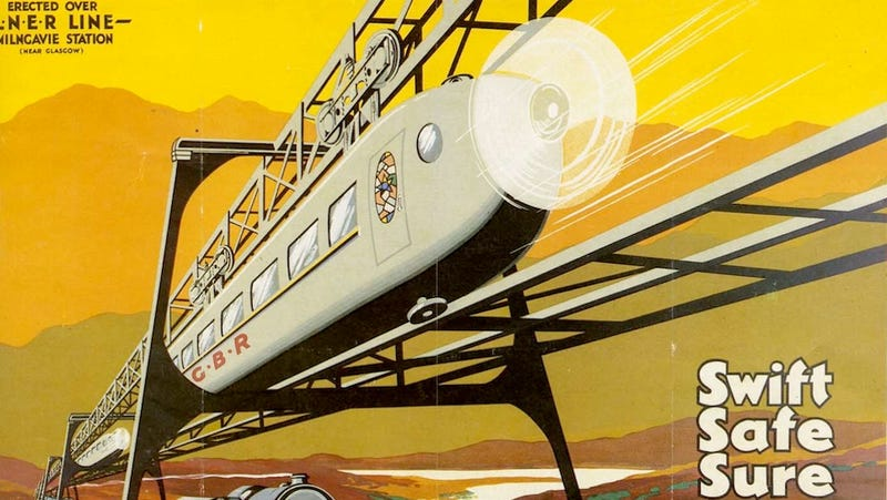 Illustration for article titled The Most Extraordinary Monorail Designs Of The 20th Century