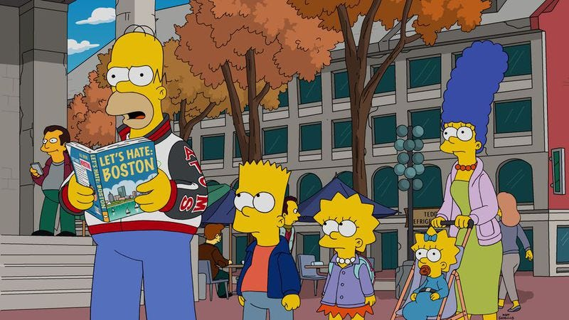 Illustration for article titled The Simpsons added a Super Bowl Easter egg to last night's rerun